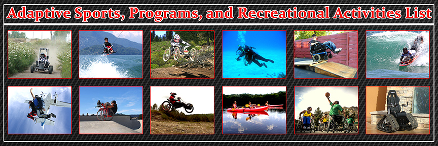 Adaptive Sports, Programs, and Recreational Activities List